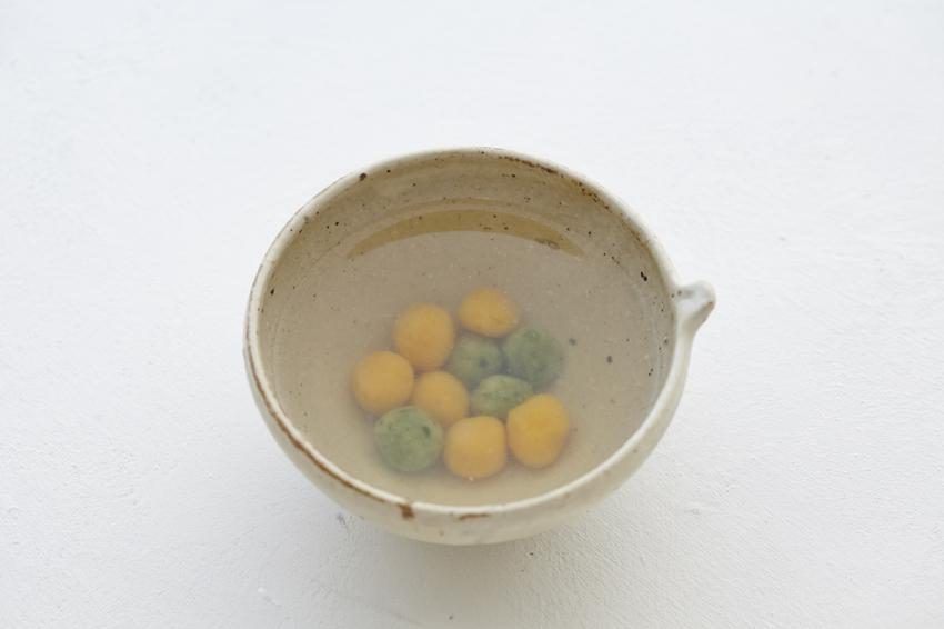 米粉のミニだんごのスープ